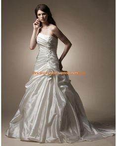 Zeitlos elegante Brautkleider aus Satin A-Linie mit Schleppe 2013