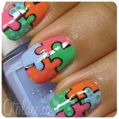 Puzzle nail art