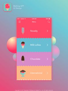 Ice cream mobile iPhone app ui design user interface menu page home page The post Ice cream mobile iPhone app ui design user interface menu page home page appeared first on Design. Web Design, App Ui Design, Flat Design, Iphone App Design, Site Design, Application Ui Design, Application Iphone, Interface Web, User Interface Design