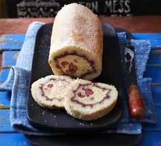 Clotted cream & raspberry ripple Arctic roll