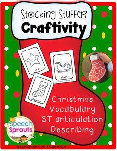 Stocking Stuffer Craftivity for speech therapy