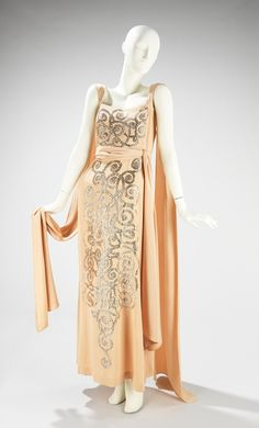 A shimmery evening dress from Lanvin's Spring-Summer 1937 collection.  (1000th post! WooHoo! :D)