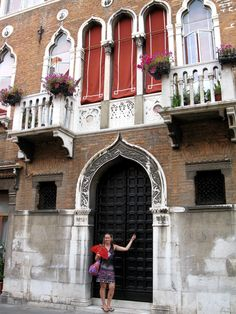 The Italian sure know how to decorate a facade. Love the windows, balconies and the door. Venice, Italy.