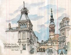 Les dessins de lapin à Baden-Baden. La ville haute. The drawings of Lapin in Baden-Baden. The high city. #Cafeofeurope #sourcesofculture #sourcesofeurope #BadenBaden #Lapinbarcelona http://www.lesillustrationsdelapin.com/#about/