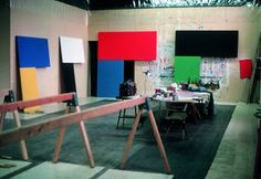 Ellsworth Kelly's studio, Chatham, New York, 1972