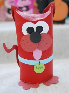 Toilet paper roll craft - dog