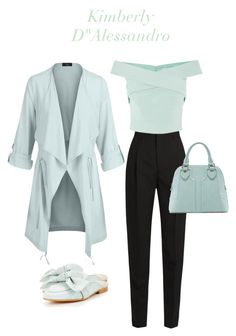 Untitled #1519 by kimberlydalessandro on Polyvore featuring polyvore, fashion, style, LE3NO, Yves Saint Laurent, Office, Sole Society and clothing
