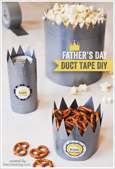 Duct Tape Crowns : A Father's Day DIY