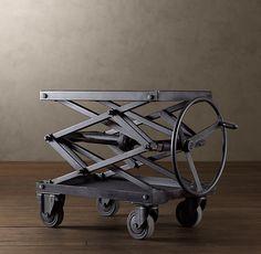 Industrial Scissor Lift Table Metal by Restoration Hardware Table Élévatrice, Lift Table, Table Frame, Table Bases, Welding Table, Metal Welding, Welding Torch, Diy Welding, Industrial Table