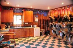 ribbon display and a director's chair- not to mention full cabinetry! All in the horses tack room!