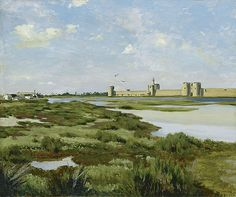 Cave to Canvas, Frédéric Bazille, The Ramparts, Aigues-Mortes,...