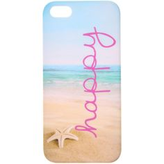 Beach Happy Phone Case iPhone 5/5S (£8) ❤ liked on Polyvore featuring accessories, tech accessories, phone cases, phone, iphone and cases