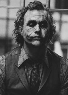 the joker // heath ledger // watch the world burn