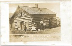 https://flic.kr/p/9zPhsw | CEN Coral MI Montcalm County Ghost Towns Firts Village Building RPPC Photographer Unknown Unsent