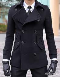black jacket black gloves