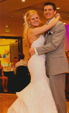 One of our fun spunky brides looking fabulous with her handsome husband!  Love!!