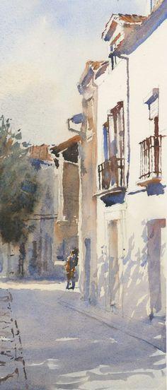 "Michael Reardon   Hervas, Spain  14"" x 6"" 14 October 2014"