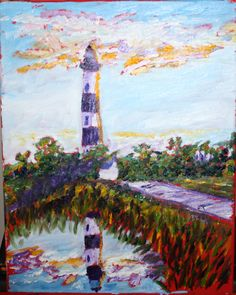 Bodie Island Lighthouse Outerbanks NC artist Preston Sandlin http://www.homeinspectioncarolina.com