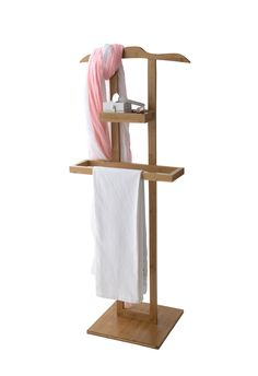 Bamboo clothes stand with storage compartment Drawer Dividers, Drawer Organisers, Clothes Stand, Clothes Hanger, Hangers, Custom Bunk Beds, Mens Valet, Clothes Valets, Valet Stand
