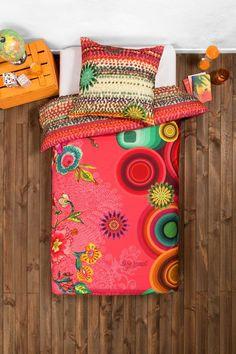 Desigual Rosafarbener Bettbezug. Lass in deinem Bett Träume wahr werden! Deco, Are You Happy, Women's Accessories, Symbols, Make It Yourself, Shopping, Pink, Women, Duvet