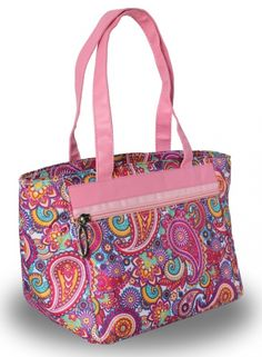 LGS Ladies Golf Tennis Cooler Tote Bag - Pink Paisley 2f1a2203ace43