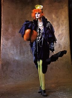 'Model and Muse', Caroline Trentini by Irving Penn, Vogue US July 2007.    John Galliano Fall Winter 2007 Ready-to-Wear