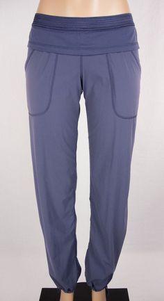 LULULEMON Dance Studio Pants Size S Purple Unlined Drawstring Hems #Lululemon #PantsTightsLeggings