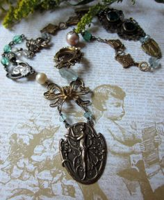'garden goddess' necklace by The French Circus on Etsy