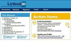 Voici de quoi avait l'air le site Linkedin à ses tout débuts.