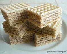 Wafle z masą mleczno- czekoladową Krispie Treats, Rice Krispies, Sweet Treats, Cake, Food, Sugar, Kuchen, Sweets, Candy