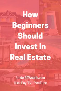 How to invest in real estate as a beginner. Click to see our tips and strategies for new real estate investors trying to buy your first rental property or house to flip. #realestate #realestateinvesting #money #personalfinance #invest #investing #wealth #millionaire #getrich #goals #motivation