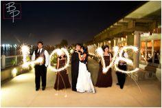 Wedding Photo Pose - Love Sparklers