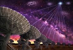 The Mystery of Astronomy's 'Fast Radio Bursts' Only Gets More Beautiful From Here. ( Artist rendition of the dishes of the Karl G. Jansky Very Large Array are seen making the first-ever precision localization of a Fast Radio Burst, and thereby pointing the way to the host galaxy of FRB121102.) 07012017.