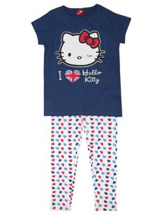 cute british hello kitty pajamas from m