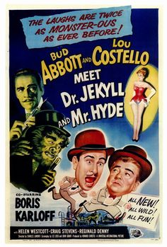 Abbott & Costello Meet Dr Jekyll & Mr Hyde 27x40 Movie Poster (1953)