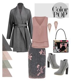 """""""color pop"""" by sana-emara ❤ liked on Polyvore featuring Prada, Michael Antonio and Anne Sisteron"""