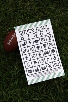 Super Bowl bingo, something for me to do while they're playing that silly game!