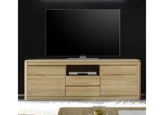 TV-Unterteil Eiche Bianco massiv geölt & gewachst Woody 35-00178   Woody Möbel