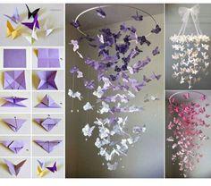 DIY butterfly deco