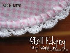 Free Crochet Project - Baby Blanket Shell Edging