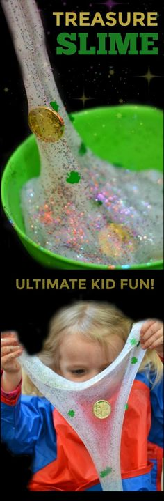 Hunting for treasures in rainbow slime?  Coolest playtime ever!!  Give this activity a try and see firsthand the kind of happiness that lies at the end of the rainbow!