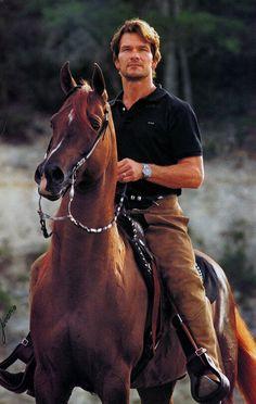 Patrick Swayze on his Arabian, Tammen