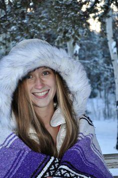 Senior pictures, winter, Colorado