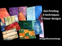 Today I am sharing 4 gel printing techniques to use if you would like to make linear or grid design prints. Homemade Stamps, Gelli Plate Printing, Paint Tubes, Plate Art, Grid Design, Stamp Making, Mark Making, Community Art, Art Tutorials