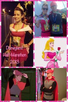 Sleeping Beauty (AKA Aurora) and Prince Phillip race costumes!