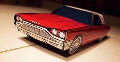 Papercraft Ford Thunderbird 1965