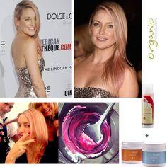 """Amerikalı ünlü oyuncu Kate Hudson da """"Güzelleşirken Sağlığından Ödün Vermeyenlerden"""". Organic Colour Systems saç boyalarında sağlığınızı tehdit eden paraben, amonyak ve resorsinol yok."""