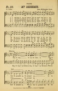I Will Sing Of My Redeemer - Hymnary.org