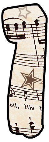 ArtbyJean - Paper Crafts: Alphabet Set - Vintage Sheet Music Clipart Prints for cards, decoupage, scrapbooking.