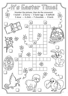 Easter Crossword worksheet - Free ESL printable worksheets made by teachers Easter Puzzles, Easter Worksheets, Easter Activities For Kids, Kindergarten Worksheets, Printable Worksheets, Free Worksheets, Printables, English Games, English Activities